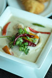 Tom kha kai -chicken in coconut milk soup Royalty Free Stock Photography