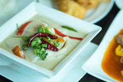 Tom kha kai -chicken in coconut milk soup Stock Images