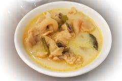 Tom-Kha-Kai, Thais tradionalvoedsel Stock Foto's