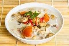 Tom kha Tajlandzki jedzenie Zdjęcia Royalty Free