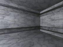 Tom konkret ruminre Mörk arkitekturbakgrund stock illustrationer