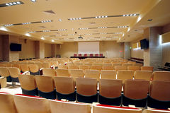 tom korridor för konferens Arkivbild