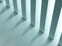 Tom korridor med tolkningen för kolonner 3D Arkivbilder