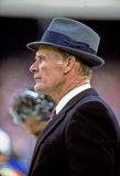 Tom Landry Dallas Cowboys. Former Dallas Cowboys head coach Tom Landry. (Image from color slide Stock Photography