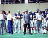 Tom Landry. Dallas Cowboys head coach Tom Landry.  (Image taken from color slide Stock Photography