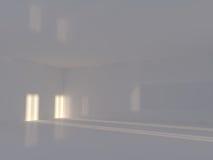 Tom ljus stor tolkning för korridor 3D Arkivbilder