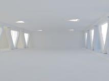 Tom ljus stor tolkning för korridor 3D Arkivfoton