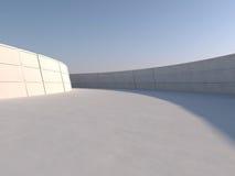 Tom ljus stor tolkning för korridor 3D Royaltyfri Foto