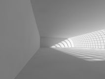 Tom ljus stor tolkning för korridor 3D Royaltyfria Bilder