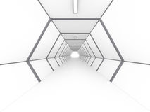 Tom ljus stor tolkning för korridor 3D Arkivbild