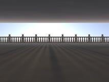 Tom ljus stor tolkning för korridor 3D Royaltyfri Fotografi