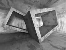 Tom mörk betongväggruminre Abstrakt arkitektur B stock illustrationer