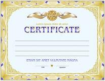 Tom mall för certifikat Royaltyfri Fotografi
