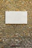 Tom marmorplatta på den italienska stenväggen Fotografering för Bildbyråer