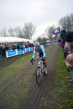 Tom Meeusen. Belgian cyclocross rider Tom Meeusen on the world championship in Koksijde 29-1-12 Stock Images