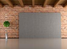 Tom minimalist interior royaltyfri illustrationer