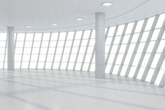 Tom modern korridor för affärsmitt Royaltyfri Foto