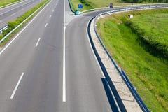 Tom motorvägväg royaltyfri foto