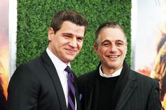 Tom Murrow and Tony Danza Royalty Free Stock Images