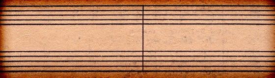 tom musik bemärker det gammala paper arket Arkivbilder