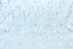 Tom närbild för vinexponeringsglas arkivfoto