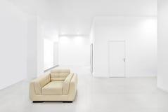Tom ny vit interior Arkivbilder
