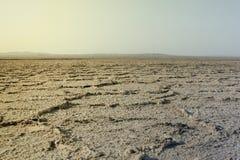 Tom och torkad öken i Iran royaltyfria bilder