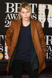 Tom Odell. Arrives for the Brit Awards 2013 at the O2 Arena, Greenwich, London. 20/02/2013 Picture by: Steve Vas / Featureflash royalty free stock photography
