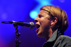 Tom Odell. British singer Tom Odell performs during the music festival Rock for People in Hradec Kralove, Czech Republic, July 3, 2014 royalty free stock image