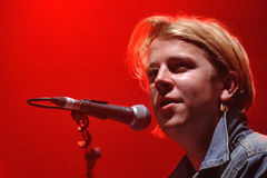 Tom Odell. British singer Tom Odell performs during the music festival Rock for People in Hradec Kralove, Czech Republic, July 3, 2014 stock photography