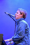 Tom Odell (British singer and songwriter) sings and plays the piano at FIB Festival Royalty Free Stock Images