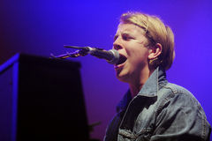 Tom Odell. English singer Tom Odell during his performance at festival Rock for People in Hradec Kralove, Czech republic, July 3, 2014 royalty free stock photography
