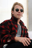 Tom Odell. English singer Tom Odell during press conference in festival Rock for People in Hradec Kralove, Czech republic, July 3, 2014 royalty free stock image