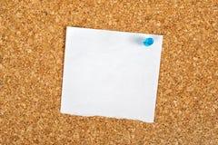 Tom påminnelseanmärkning som kopieringsutrymme Fotografering för Bildbyråer