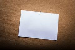 tom paper white Royaltyfri Fotografi