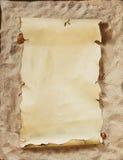 tom parchment Royaltyfri Bild