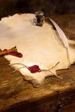 tom parchment Arkivfoto