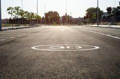 tom parkering Royaltyfri Bild