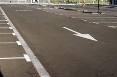 Tom parkering för bilar Arkivfoton