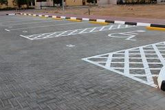 tom parkering för område Arkivbilder