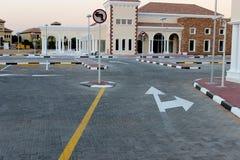 tom parkering för område Arkivfoton