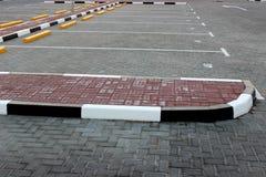 tom parkering för område Fotografering för Bildbyråer