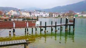 Tom pir, Gmunden, Österrike arkivfilmer
