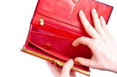 tom plånbok Arkivbilder