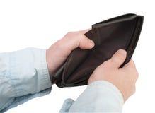 tom plånbok Arkivbild