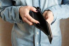 tom plånbok Royaltyfri Bild