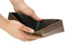tom plånbok Arkivfoto