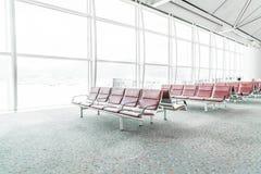 Tom plats i flygplatsen Arkivfoton