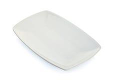 Tom platta för vit fyrkant som isoleras på vit Royaltyfria Foton