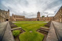Tom Quad De Universiteit van Oxford engeland stock fotografie